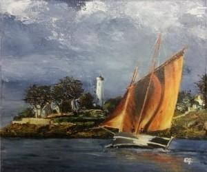 Presqu'île de Rhuys (Finistère) 30 x 40