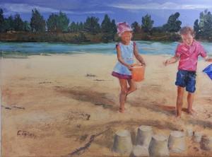 Sur la plage de Pombonne Format 10P (38 x 55)