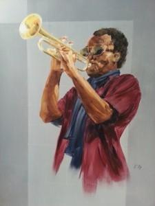 Trompettiste 70 x 50