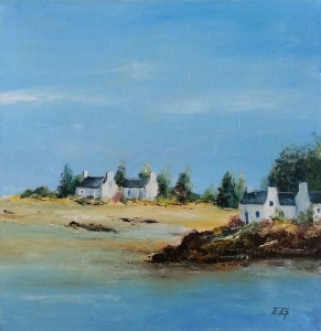 Marée basse en Bretagne30 x 30