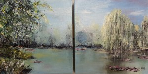 Giverny n° 4 diptyque 2 / 20 x 20