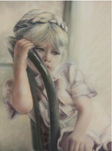 Petite fille rêveuse40 x 50