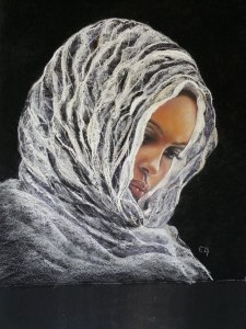 Jeune EthiopiennePastel