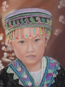 Fillette H'Mong (Laos) 40 x 50