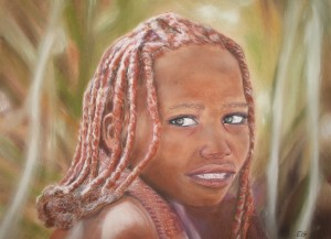 Fillette Africaine 40 x 50